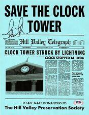 Lea Thompson autographed signed 8x10 movie newspaper Back To The Future PSA COA