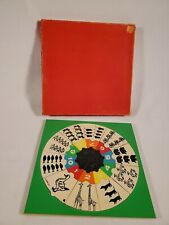 Vintage Round Simplex Wood Puzzle Toy ~ Made in Holland ~ Counting