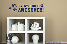 Everything is awesome lego movie wall decor vinyl quote lettering decal art 2282