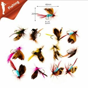 Fly Tying Fly Fishing Lure Dry Flies Hooks Feather Wing Bait Lure for Carp Trout