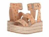 NEW $442 rag & bone Tara embroidered suede platform espadrille sandals SZ 9