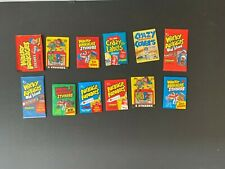 (12) Topps Fleer Wacky Packages Parodies Crazy Labels Unopened Sealed Pack Lot