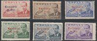 SPANISH MOROCCO (IFNI), complete set MNH, 1949. EDIFIL 59/64 Overprint