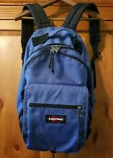 Vintage Eastpak Backpack Multi Pocket Nylon Canvas Blue School Bookbag Excellent