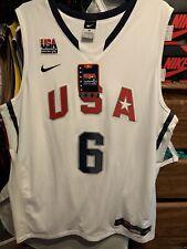 Brand New Tags Nike LEBRON JAMES USA BASKETBALL JERSEY AUTHENTIC LA LAKERS SZ XL