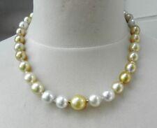 d0a2ac082cf4 Perlas Del Mar Del Sur Cierra Bolsa Ejemplar Único Collar Acabado a Mano  3267