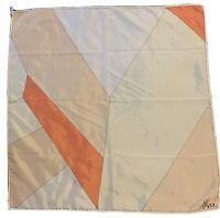 "Vintage 1960's Geometric Vera Neumann Ladybug Logo Abstract Scarf 21.5"" X 22"""