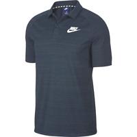 Nike ADV15 Knit Polo Shirt Obsidian Blue/White Men's Size Small NEW Retro