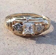 Vintage Antique Setting Princess Cut Diamond Ring - Promise - Engagement Ring