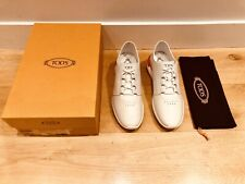 Tods Sportivo Mens White Leather Trainers Sneakers - No Code UK 9 EU 43 New £450