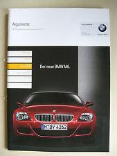 Vendedor PROSPECTO INTERNO BMW Serie 6 E63 M6 Coupé 5.0 V10 Argumentos 2005