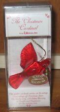 Acrylic Christmas Cardinal Ornament With Bell By Roman Inc. 1997