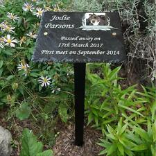 Memories Pet Photo Memorial Slate Plaque Grave Marker - Add Message & Photo