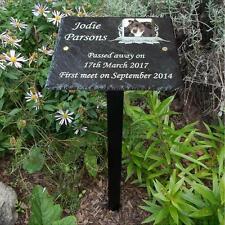 RICORDI Pet PHOTO Memorial Slate PLACCA Tomba Pennarello-aggiungi messaggio & PHOTO