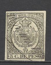 438-GRAN SELLO FISCAL COLONIA ESPAÑA AÑO 1892 5 CENTAVOS.SPAIN REVENUE.