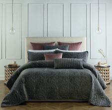 Bianca Genevieve Coal Coverlet Set Bedspread Queen/king Bed Size