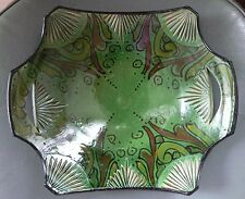 Moroccan handmade engraved green ceramic tray - suitable for dips, sweets.