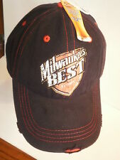 Milwaukee's Best Beer Hat NWT One Size Craft Beer Blue Cap w/ Red 100% Cotton