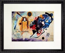 Yellow - Red - Blue by Wassily Kandinsky. Poster Framed in Real Wood Black Frame