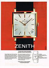 PUBLICITE ADVERTISING  1964   ZENITH   montre