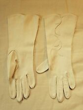 Vintage Ladies Gloves- sz. 6 1/2- 1950's- stretchy and long