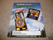 GOTTLIEB Wipe Out WipeOut pinball flyer