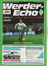 BL 92/93 SV Werder Bremen - 1. FC Nürnberg