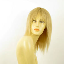 perruque femme 100% cheveux naturel longue blonde ref KOKO  22