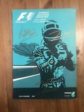 Petronas Malaysian formula 1 official programme signed by drivers