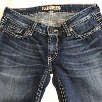 BKE Womens Jeans Starlite Distressed flare 26  x 30 Medium Wash Buckle Denim