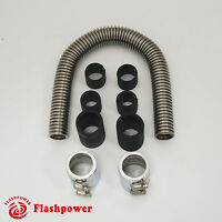"""Hot Rod 36"""" Stainless Flex Radiator Hose Kit With Caps"""