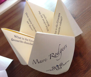 NEW! Fortune Teller style place cards. Wedding / event place cards. x 25