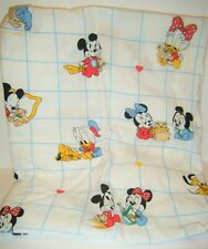 Vintage Dundee Disney Babies Mickey Mouse Fitted Crib Sheet Minnie Donald Pluto