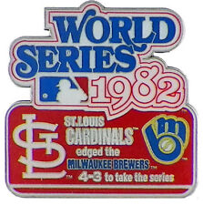 1982 World Series Commemorative Pin - Cardinals vs. Brewers - Limited 1,000