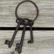 Rustic Cast Iron Pirate Ship Jail Skeleton Keys Set Ant