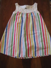 Gymboree Girls White Multicolor Polka Dot Cotton Shift Dress Sundress 2T EUC