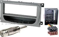 Ford Mondeo BA7 Focus C307 Galaxy WA6 Radio Blende silber + ISO Adapter Quadlock