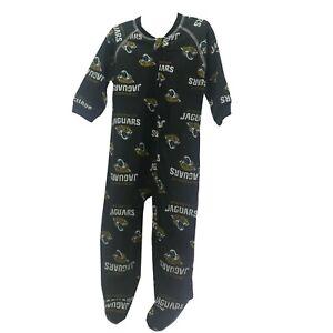 Jacksonville Jaguars Official NFL Baby Infant Size Pajama Sleeper Bodysuit New