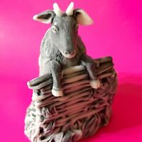 Goat sculpture marble chips Souvenirs from Russia handmade  goat figures