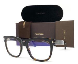 Tom Ford FT5537-B 052 Havana  / Blue Block 52mm Eyeglasses TF5537-B