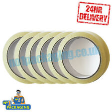 288 Rolls of sellotape 24mm x 66m (1 inch Wide) Clear Parcel Packing Packaging