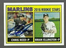 2016 Topps Heritage CHRIS REED Signed Card autograph MARLINS RC
