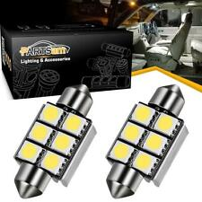 2pcs 6-SMD 5050 LED Error Free License Plate Light Xenon White DE3425 6418 C5W