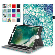 For iPad 9.7 2018 2017 / iPad Air / Air 2 Case Folio Standing Cover with Pocket