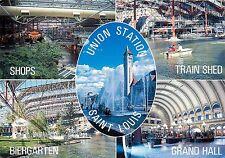 Union Station St. Louis Missouri Fun Spot Train Shed Biergarten Postcard