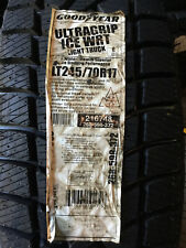 1 New LT 245 70 17 Goodyear Ultra Grip Ice 10 Ply Snow Tire