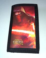3D Star Wars Billetera Tarjetas Plegable Kylo Ren Lenticular notas ID Cremallera Holograma Kids