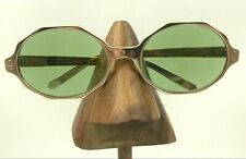 Vintage Foremost Silver Metal Oval Geometric Sunglasses Usa Frames Only