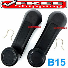 2 WINDOW HANDLE CRANK BLACK FIT ISUZU TF TFR TROOPER Vauxhall Brava Holden Rodeo