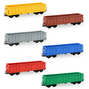 1pc/3pcs HO Scale Open Gondola Car 1:87 Rolling Stock Railway Wagons